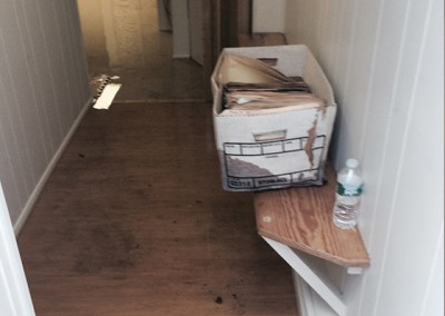 Burlingamehallway-flood-damage-repair